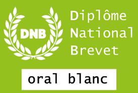 D.N.B. blanc : oral